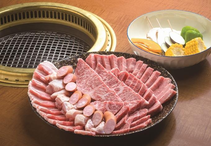 肉のクスハラ「ファミリー特上盛」