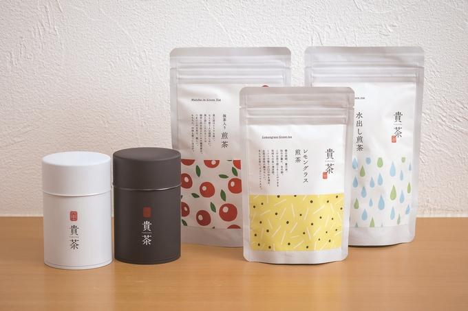 貴茶「レモングラス煎茶(50g)と煎茶「貴」(100g)の缶入りセット」