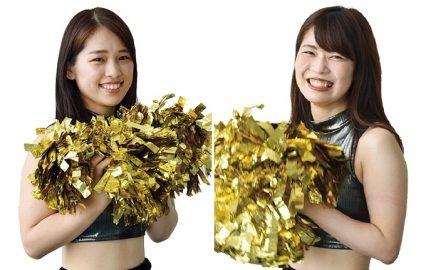 鹿児島レブナイズの専属チア・レイベスの「Yu-ki」と「Yuuka」