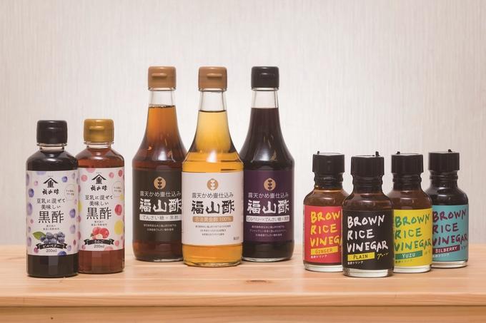 ヤマシゲの福山酢直売所「販売している商品の一部」