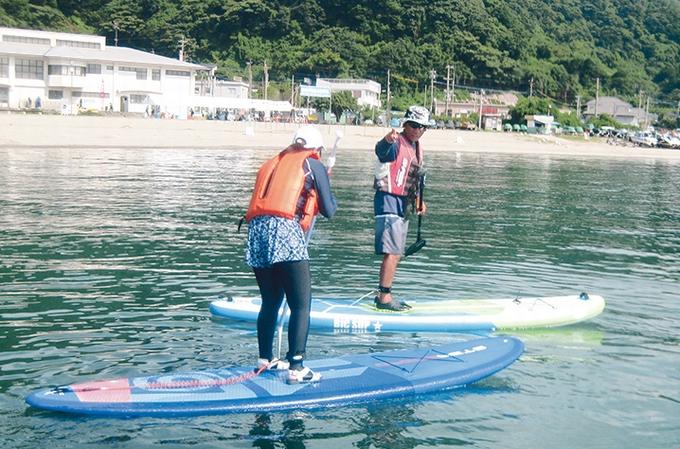 錦江湾マリン「SUPボードにようやく立てた歌」