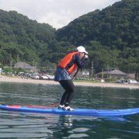 錦江湾マリンでSUPを極めてやる!海はアタシの友達だぁ~ by歌