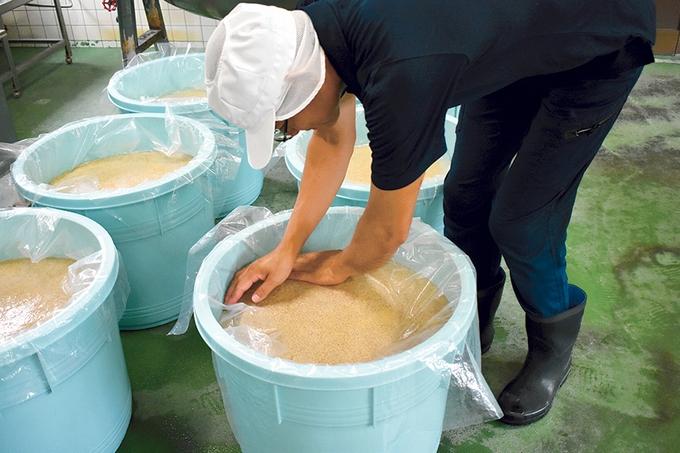 ほたる醸造みそ造りの工程③